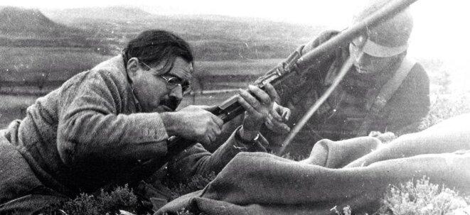 Hemingway, guerre d'Espagne, Teruel 1937 © DR