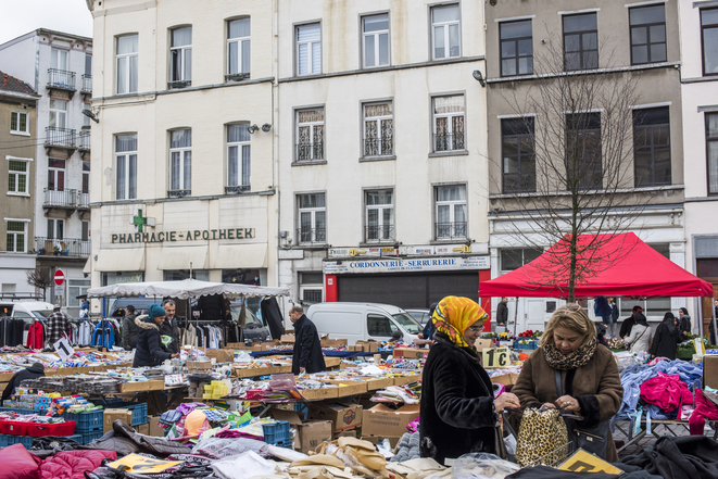 Mercado de Molenbeek, noviembre de 2015. © Pauline Beugnies - Out Of Focus