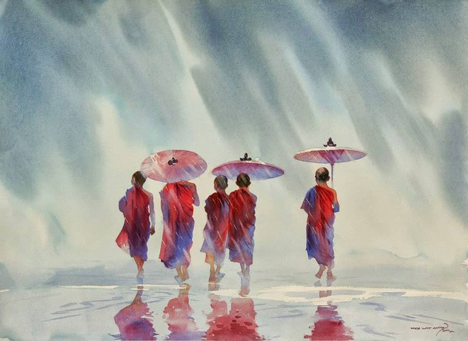 dessin de Myoe Wang Aung