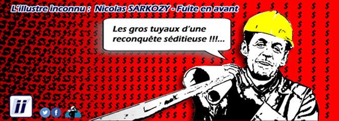 Nicolas Sarkozy - Fuite en avant © Danyel Gill