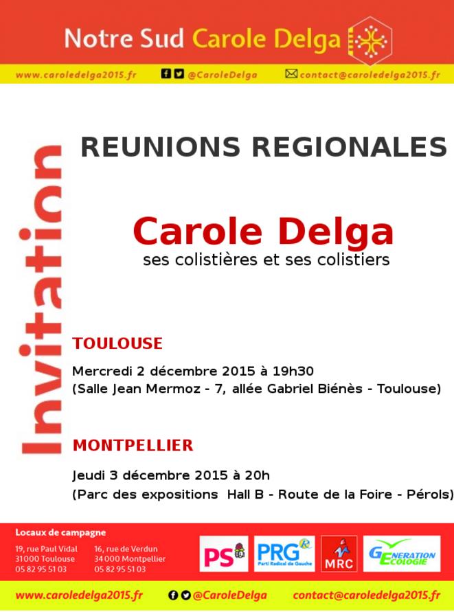 Courriel d'invitation liste PS aux régionales en LRMP