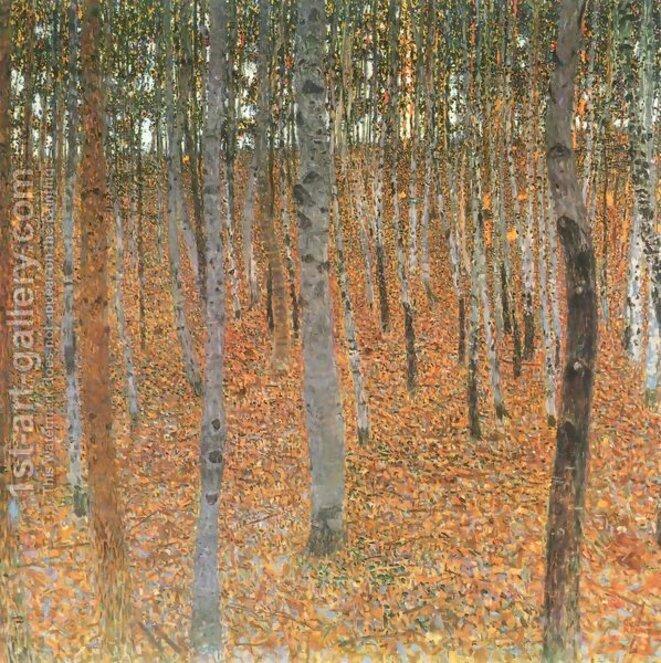 © Forêt de bouleaux à Buchenwald de Gustav Klimt