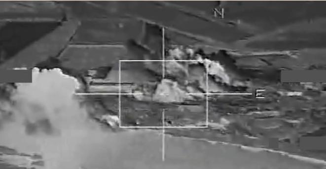 Ataques aéreos de EEUU el 16 de noviembre. © DR