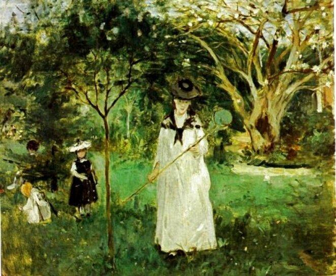 La Chasse aux papillons © Berthe Morisot