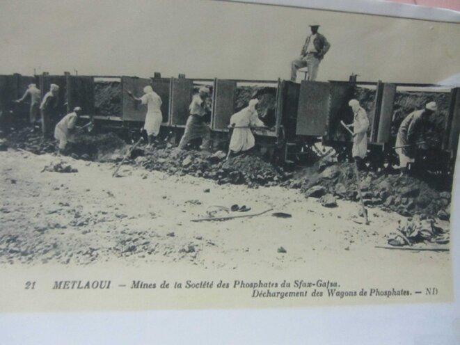 Carte postale de la mine de Metlaoui
