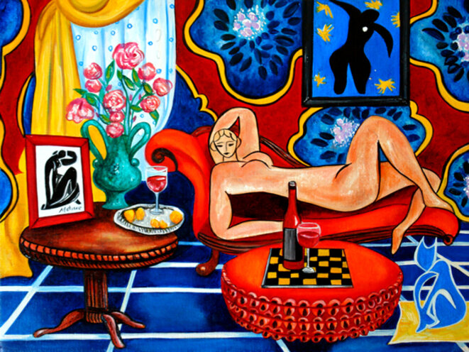 Interior Oil Painting Still Life Ravished by Matisse © k Madison Moore