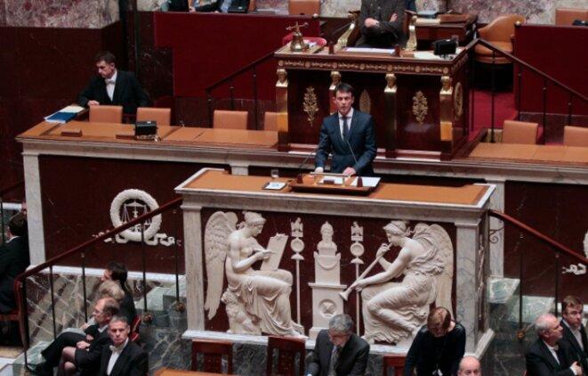 Manuel Valls à l'Assemblée, le 25 novembre. © Matignon