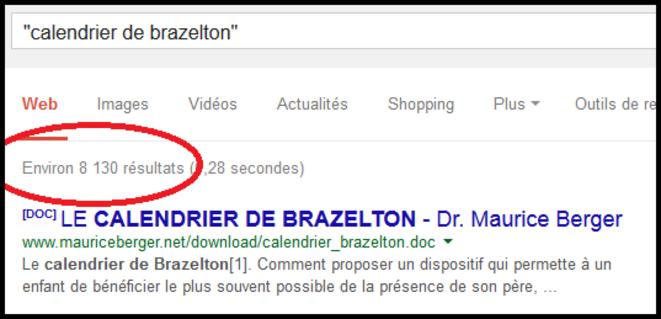 "Recherche effectuée dans google en mai 2014 : ""calendrier de brazelton"""