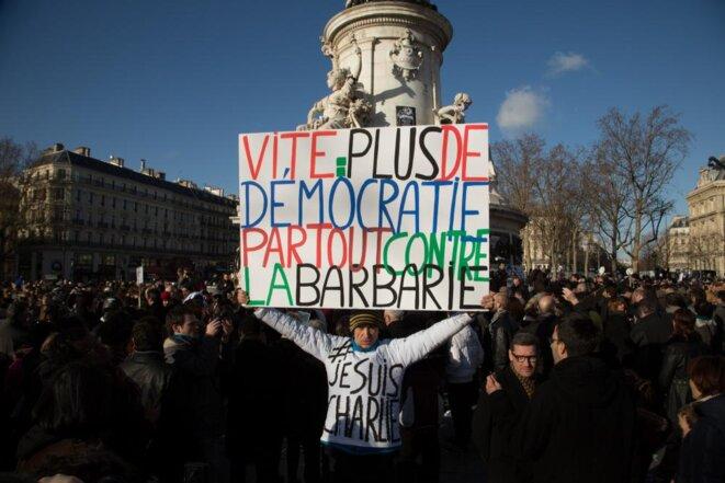 11 janvier, place de la République, Paris. © Thomas Haley