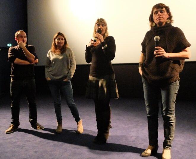 Thomas, Sylvie, Virginie, Annabelle, au Festival CinémAgora, Auch [Ph. YF]