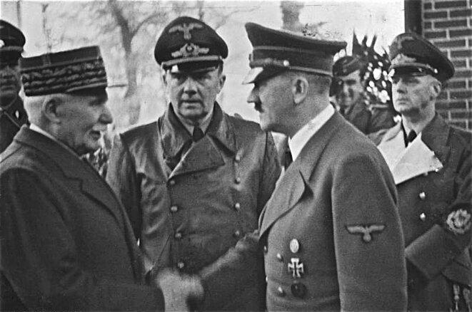 Rencontre entre Hitler et Pétain à Montoire le 24 octobre 1940 © Bundesarchiv, Bild 183-H25217 / CC-BY-SA 3.0