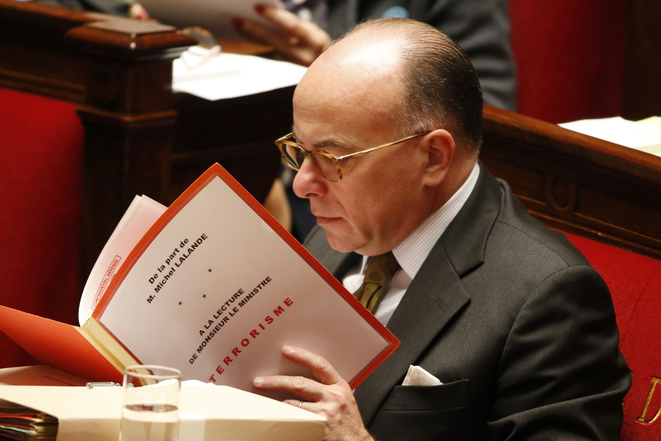 Interior minister Bernard Cazeneuve addressing the National Assembly on November 19th, 2015. © Reuters