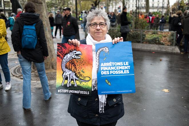 Dans la chaîne humaine entre Oberkampf et Nation à Paris © Jean de Peña