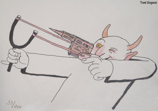En remerciant Tomi Ungerer de bien vouloir accepter que j'illustre mon propos par ce dessin.