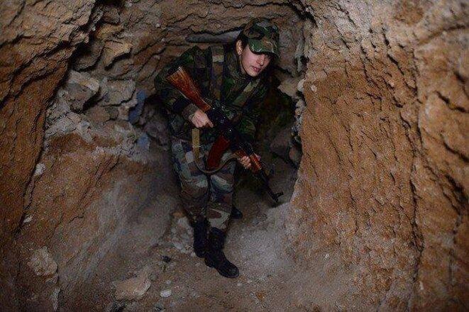 Dans les tunnels creusés par les mercenaires avant 2011 pour transferer les armes