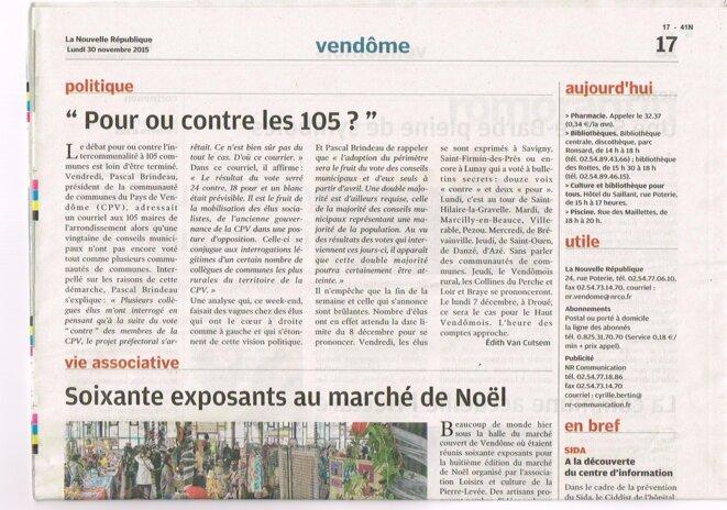 Pour ou contre les 105? © Nouvelle République