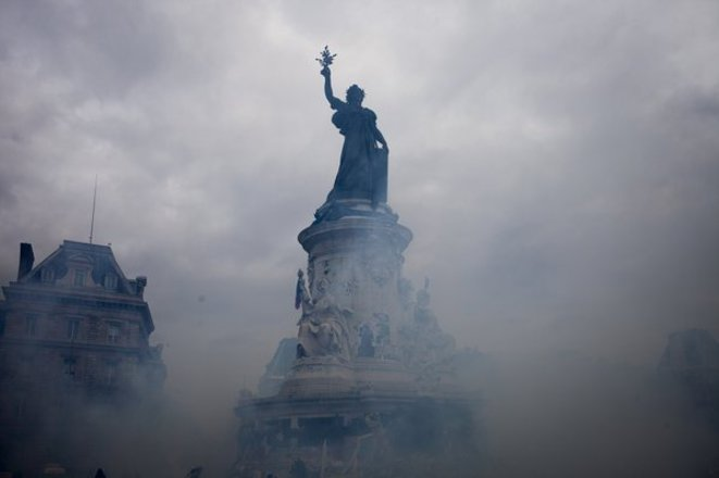 Place de la République, 29 novembre 2015. © Julien Brygo