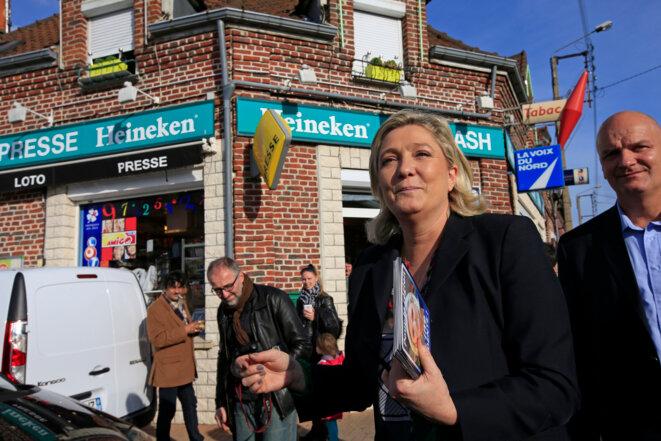 Marine Le Pen à Somain (Nord), le 12 novembre.