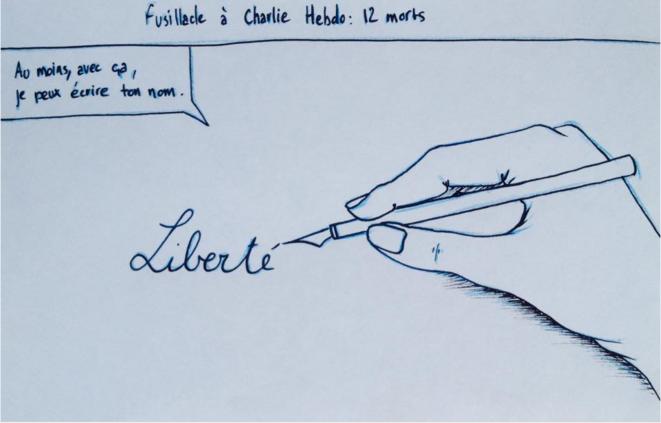 En hommage à Charlie Hebdo © Victor Simonnet & Rotsky
