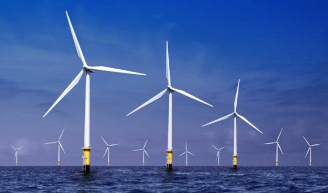 Molinos de energía eólica marina en Dinamarca. © DR