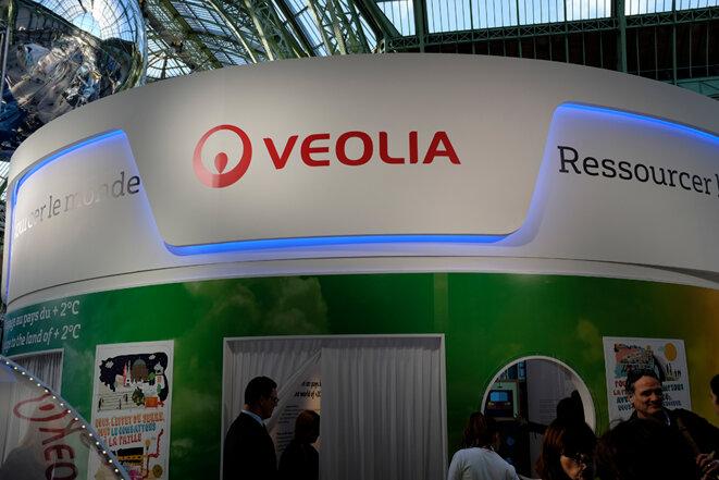Le stand de Veolia © Jean de Peña du Collectif À-vif(s)