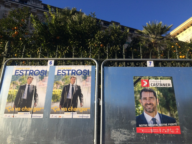 Election billboards in Nice. © ES