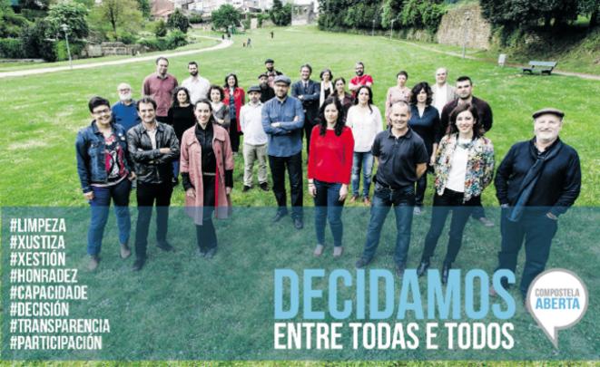 Le journal de campagne de «Compostela Aberta»: «Décidons tous et toutes ensemble»