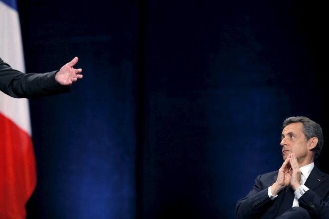 Nicolas Sarkozy en meeting à Schiltigheim (Bas-Rhin), le 25 novembre. © Reuters
