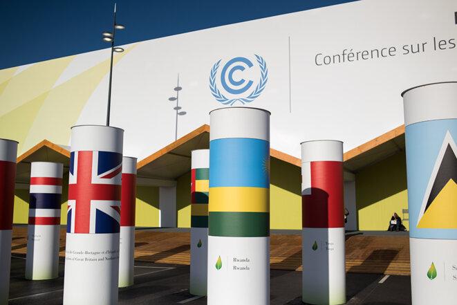 L'entrée de la COP21 © Jean de Peña du Collectif À-vif(s)
