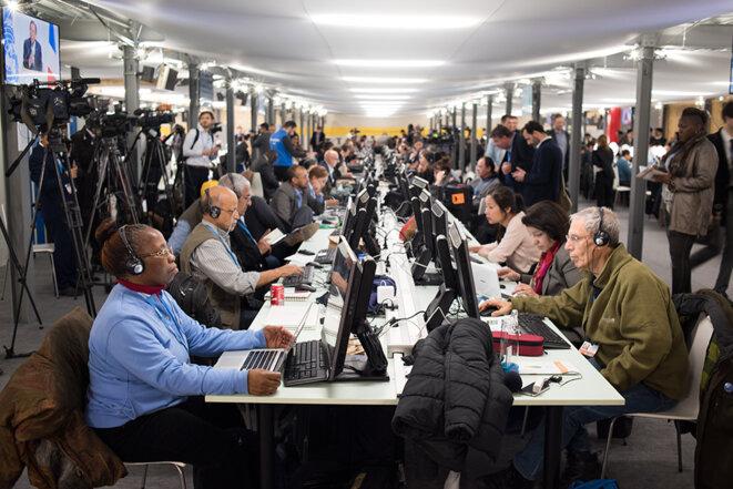Journalistes au travail © Jean de Peña du Collectif À-vif(s)