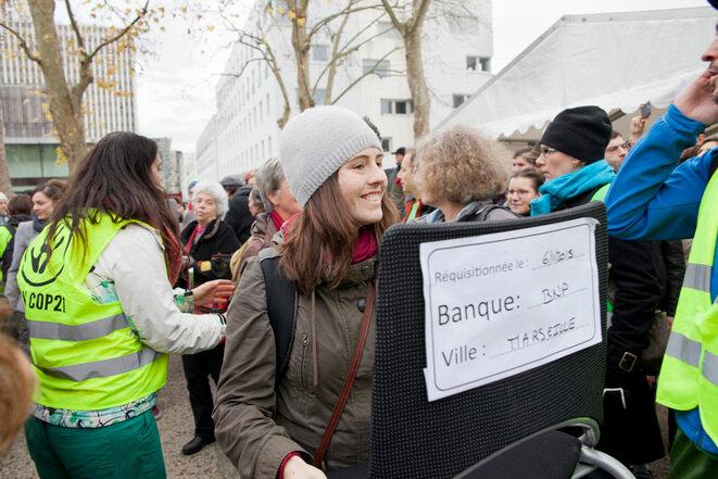 Un participante en la asamblea de Montreuil, el domingo 6 de diciembre. © Jean-Paul Duarte du Collectif À-vif(s)