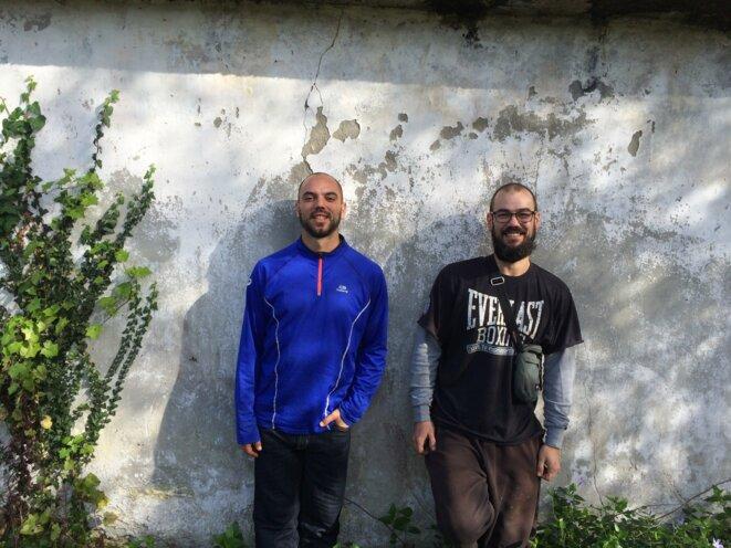 Duarte Artabe (à gauche) et son collègue Ivan.