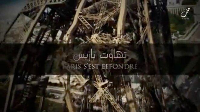 Une capture d'écran de la vidéo diffusée fin décembre