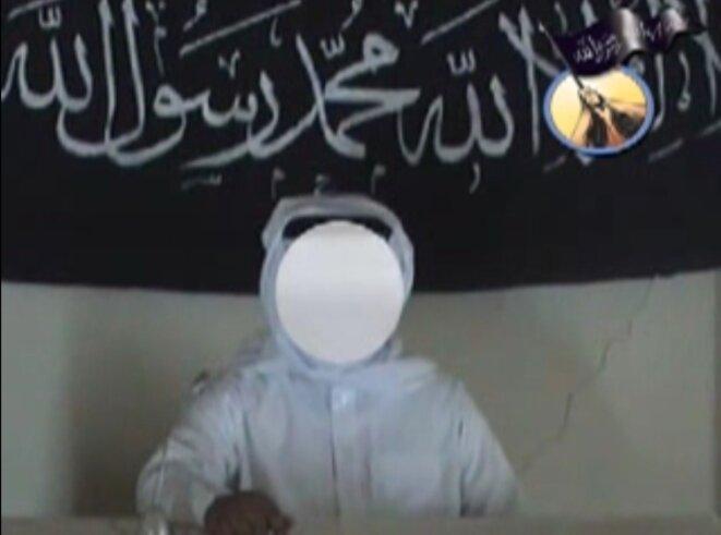 Une capture d'écran de la première vidéo de l'Etat islamique en Irak