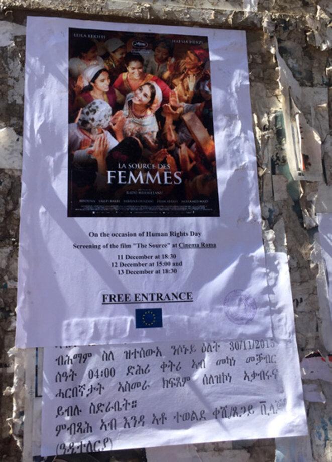 Affiche dans les rues d'Asmara