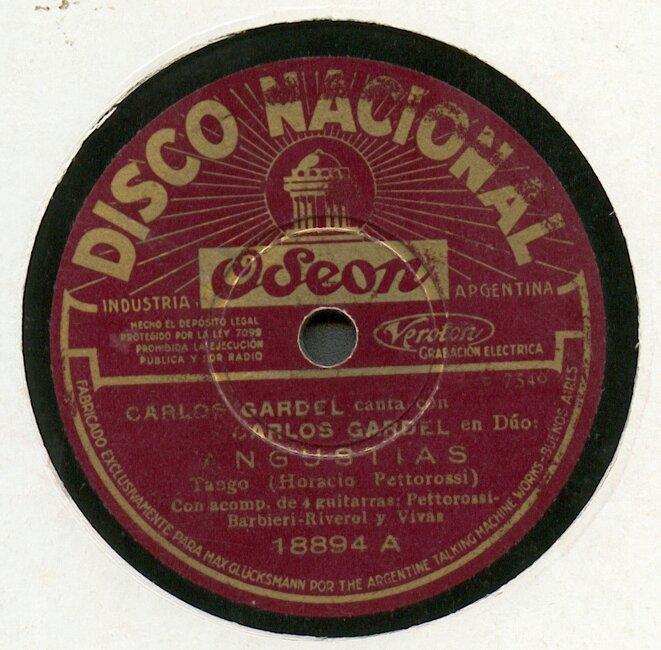 disque mythique du tango © dr