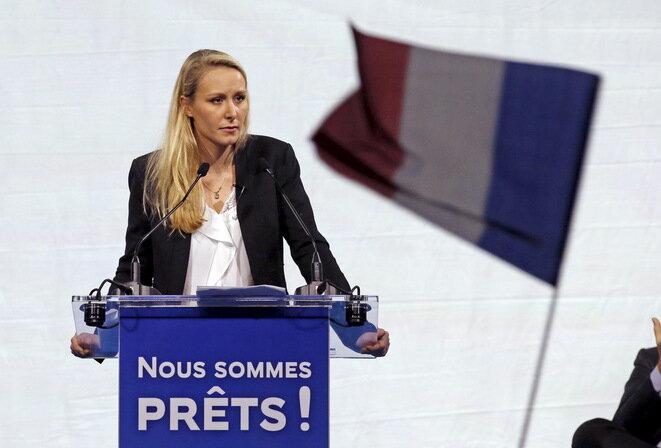 Marion Maréchal-Le Pen en un meeting en Marsella, el 9 de diciembre de 2015. © Reuters/David Moir