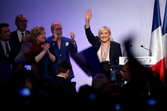 Salle Wagram, à Paris, le 10 décembre 2015. © Reuters