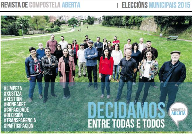 """El diario de campaña de """"Compostela Aberta"""": """"Decidir todos juntos"""""""