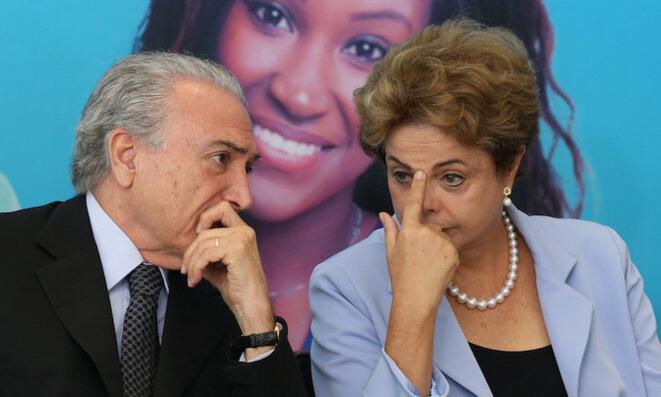 Dilma Rousseff et Michel Temer © Lula Marques/Agência PT