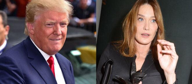 Donald Trump - Carla Bruni Sarkozy