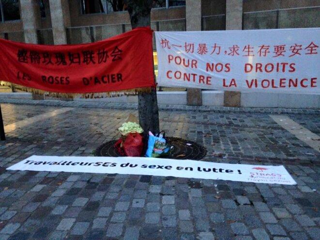 Rassemblement contre les violences faites aux travailleuses du sexe, 17 dec 2015