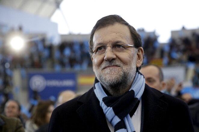 Mariano Rajoy en un meeting en Madrid el 13 de diciembre. © Andrea Comas / Reuters.