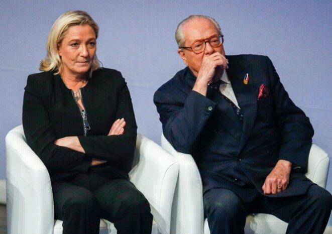 Les Le Pen lors du congrès du FN, en novembre 2014, à Lyon. © Reuters