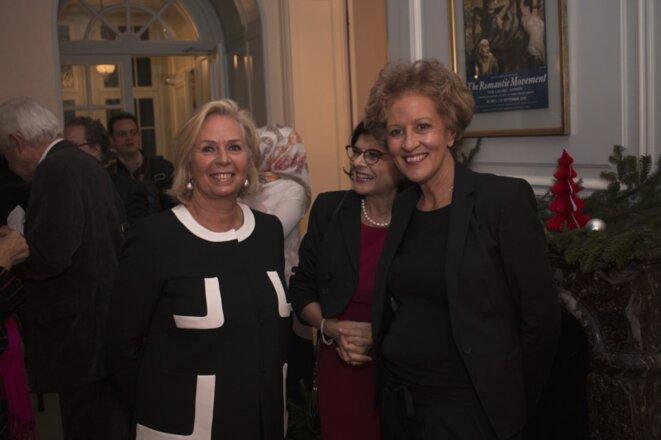 Bornia Tarall, à droite et Martine Calderoli-Lotz, à gauche © Antoine Spohr