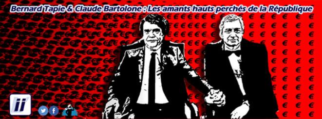 Bernard Tapie et Claude Bartolone – Les amants hauts perchés de la République © Danyel Gill