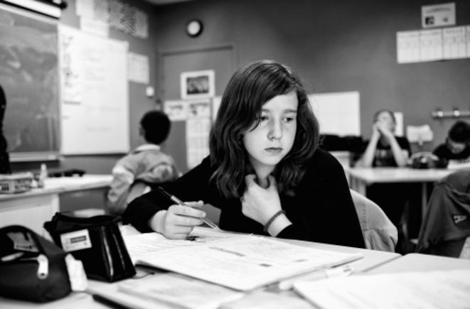 Dans une classe Segpa de Maubeuge © Flavio Tarquinio / La France VUE D'ICI