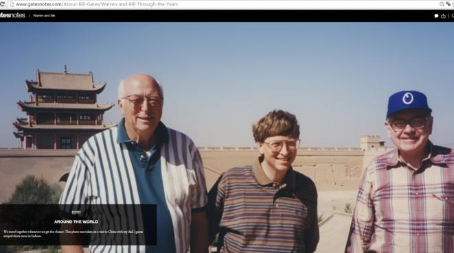 Bill Gates entre Gates sr et Warren Buffett