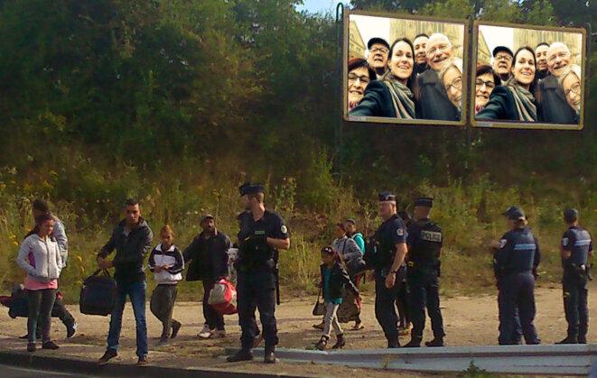 """Evacuation d'un camp """"illicite"""" sur ordre de Dominique Gros"""