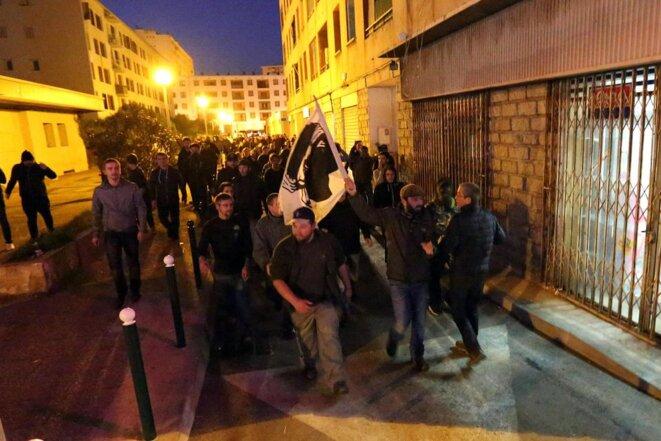 Après deux jours de manifestations et de dérapages racistes, le préfet de Corse a interdit tout rassemblement à Ajaccio jusqu'au 4 janvier 2016 © Jean-Pierre Belzit. AP